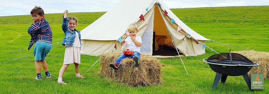 One of our beautiful Bell tents at Dewflock Farm Camping
